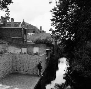 A couple near a canal